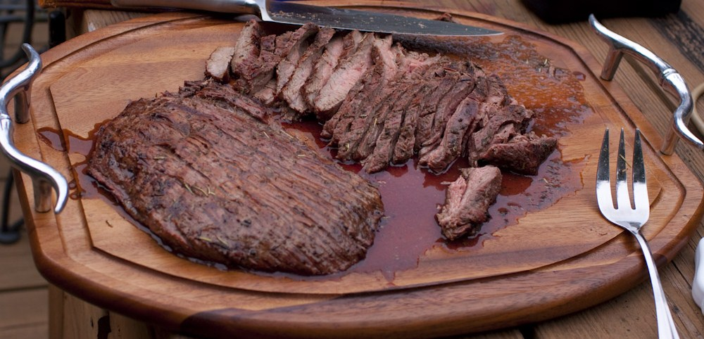 Bourbon Marinated Flank Steaks « Wilma's Kitchen